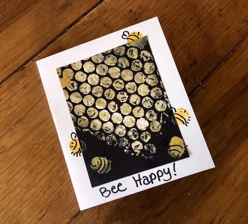 honeycomb card craft